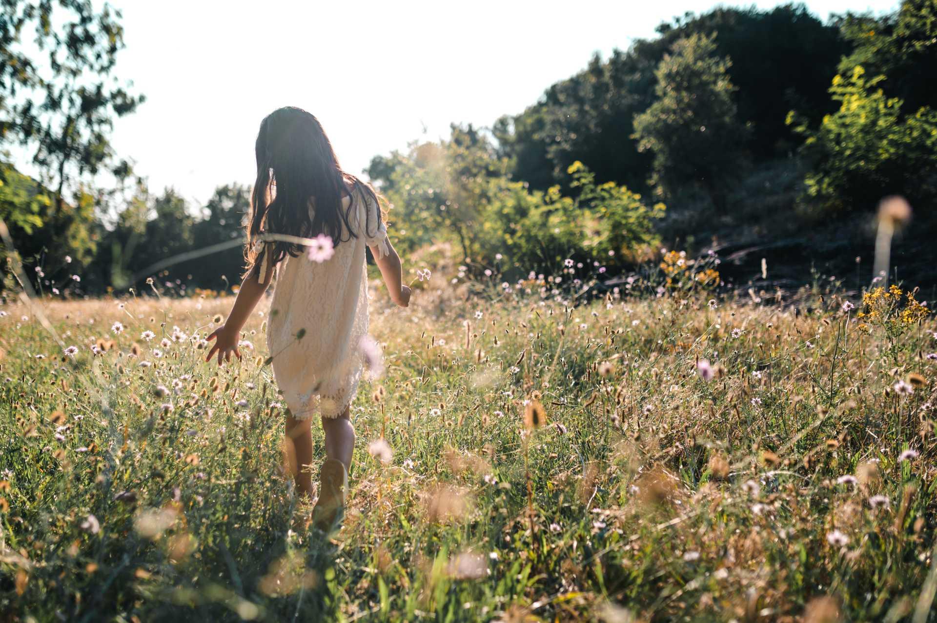 photo d'une fillette dans un champs par un photographe professionnel