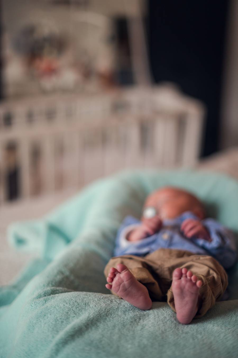 photo d'un bébé nouveau né prise par photographe professionnelle
