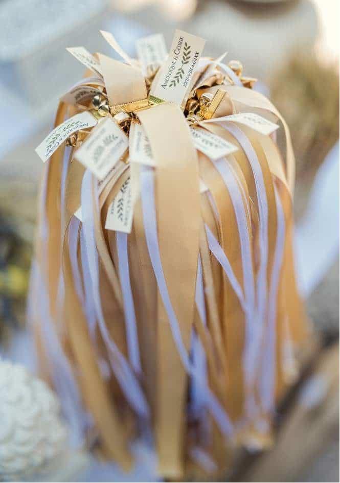 Boite de dragées de mariage, photo prise par Florence Martin, photographe de mariage dans le Var et les Alpes Maritimes