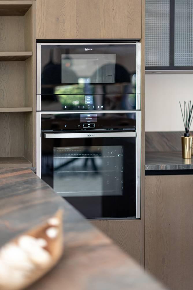 détail d'une cuisine haut de gamme, photo prise par Florence Martin photographe professionnelle dans le Var et les Alpes Maritimes