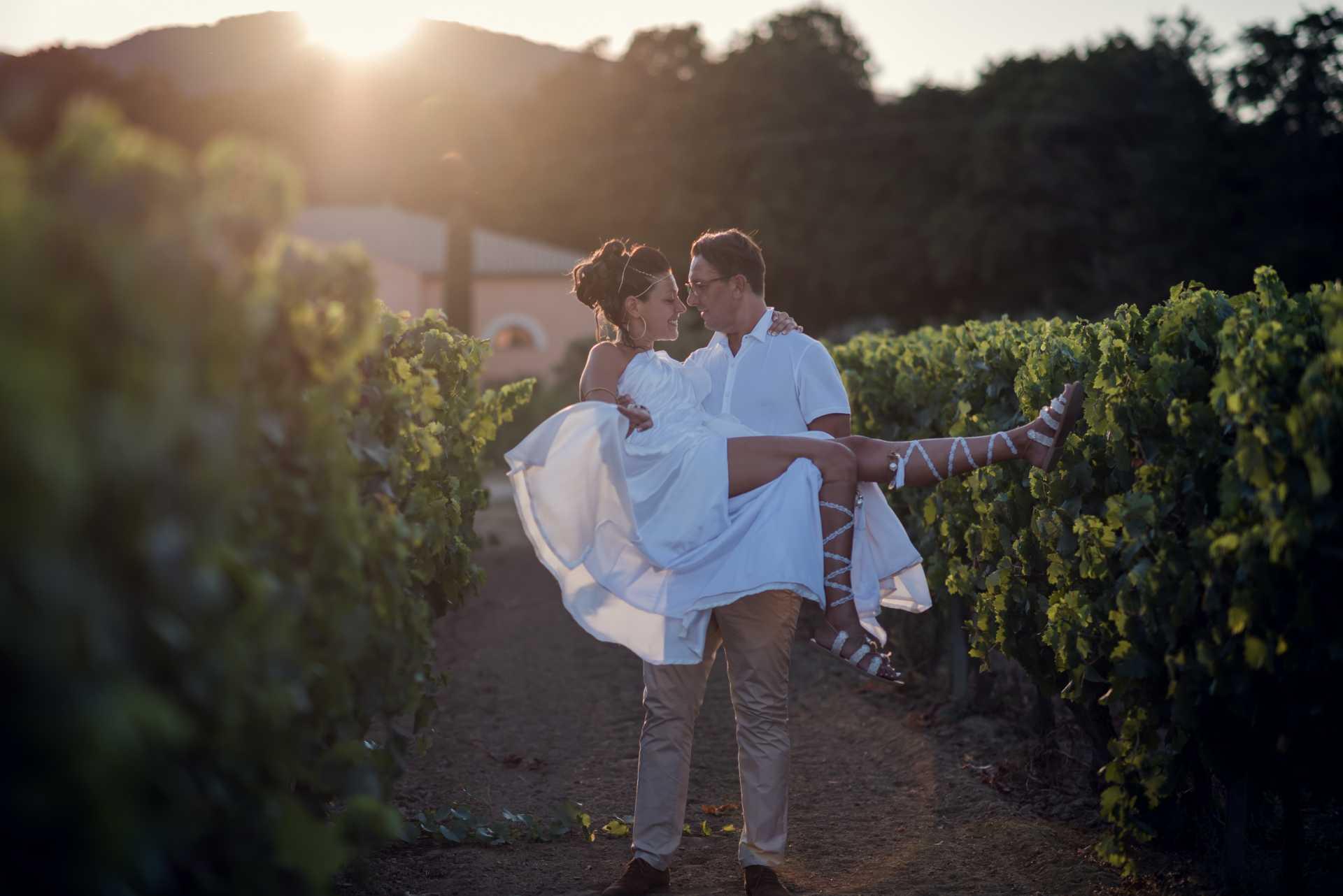 photographie mariage dans les vignes dans le var